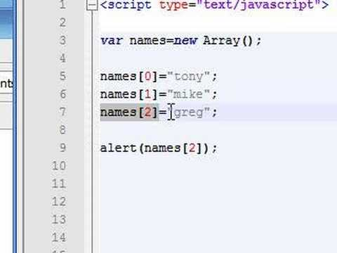 Javascript Tutorial - 7 - Changing and Adding Array Elements