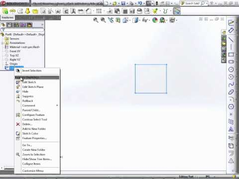Solidworks 2012 Tutorial |  Introducing Sketch Elements Part 2