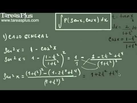 Sustitución general para integrales de seno y coseno 1