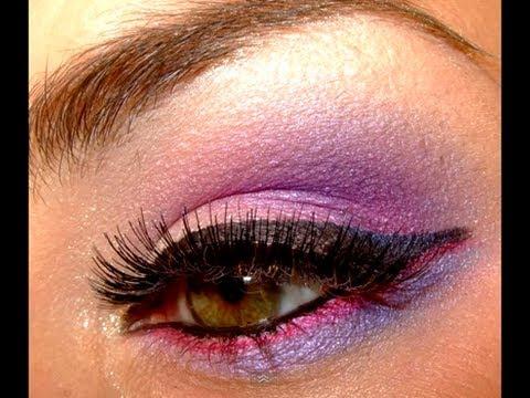 Hydrangea inspired make up look