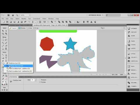 Total Training for Adobe Fireworks CS5 Ch 2 L2. Using the Freeform & Subselection Tools