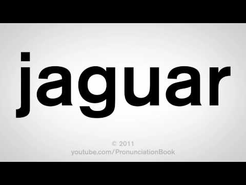 How To Pronounce Jaguar
