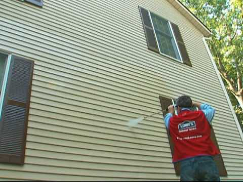 How to Pressure or Power Wash Home Siding