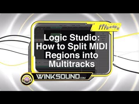 Logic Studio: How To Split MIDI Regions into MultiTracks