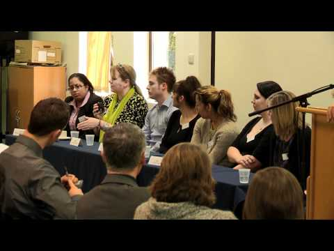 Student panel at the Associate College Partnership Conference 2012