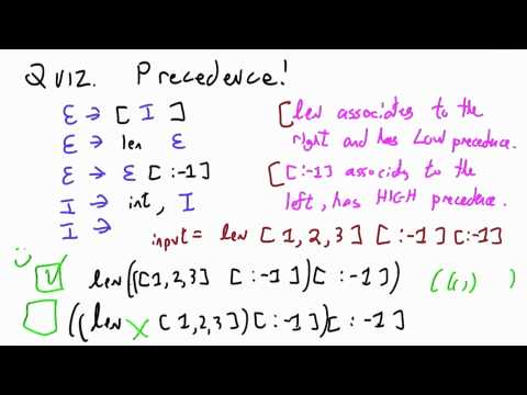 Precedence Solution - CS262 Unit 7 - Udacity