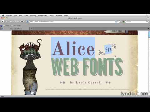 Web design with CSS and web fonts | lynda.com overview