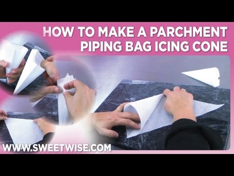 How To Make A Parchment Piping Bag Icing Cone