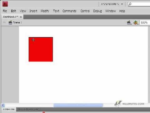 Flash CS4 Basics - Rectangle Tool