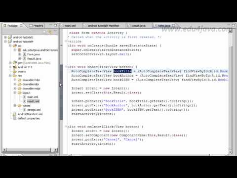 Android 5 Programming Tutorial Navigating with Intents.