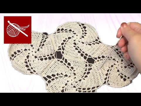 Art of Crochet by Teresa - How to make a Crochet Thread Swirl Joined