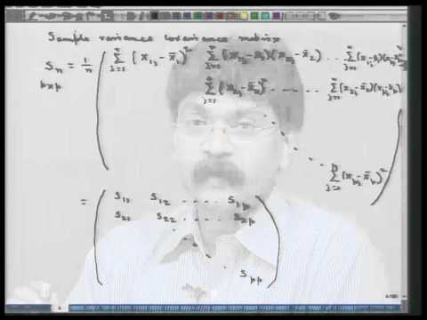 Mod-01 Lec-02 Basic concepts on multivariate distribution - II