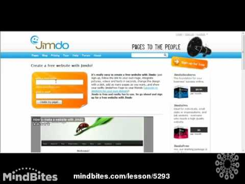 How to Start Your Blog For Free Using Jimdo