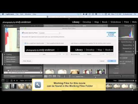 Lightroom 4 Tutorial | Creating Customized Identity Plates | InfiniteSkills