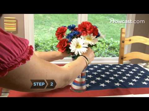 How To Make a 4th Of July Centerpiece Decoration