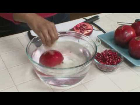Food Preparation: How to Cut Open & Remove Pomegranate Seeds - Home Made Simple