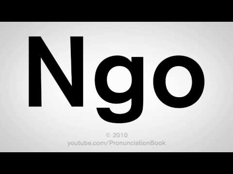 How To Pronounce Ngo