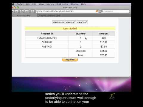 PHP Shopping Cart & Paypal Closed Captioned - Intro