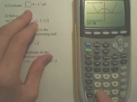 Definite Integration on Calculator
