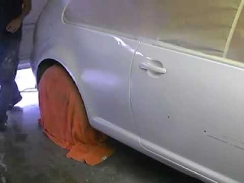 Painting 2001 Golf. Learn How To Paint Cars Go To: www.learnautobodyandpaint.com