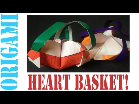 Origami Daily - 178: Heart Basket For Valentine's Day (By Suhas) - TCGames [HD]