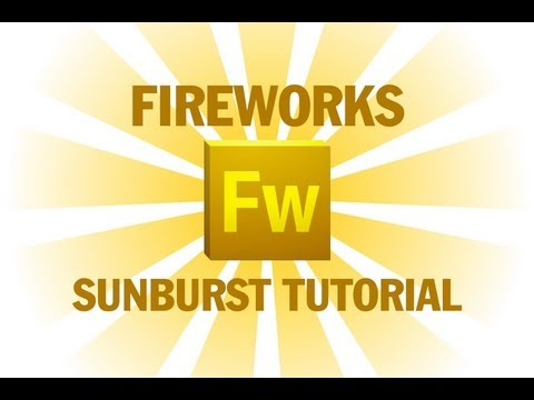 Fireworks Sunburst Tutorial Auto Shape Installation and Howto Use Guide