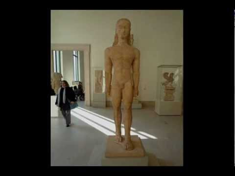 Kouros (youth), Archaic Greek, c. 590--580 B.C.E.