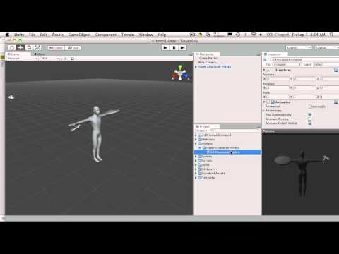 33. Unity3d Tutorial - Instantiating Our Character 1/5