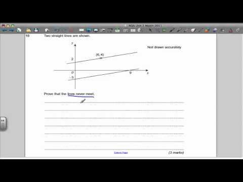 AQA Unit 2 Maths GCSE March 2011 Past Paper Solutions
