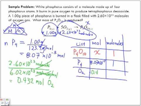 Limiting Reactant Sample Problem 2