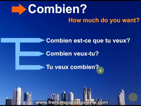 Questions in French: What, Who, When, Why, How... Part 2