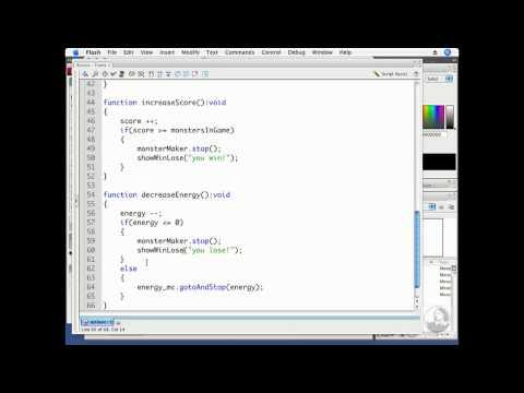 ActionScript, Flash Professional: Creating a Win screen | lynda.com