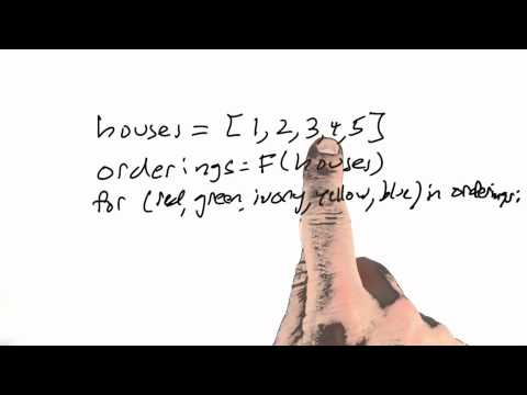 Ordering Houses - CS212 Unit 2 - Udacity
