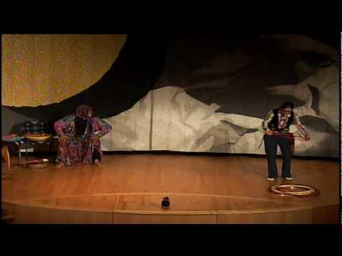 Thirza Defoe & Gene Tagaban at the Native American Winter Storytelling Festival