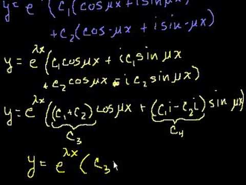 Complex roots of the characteristic equations 2