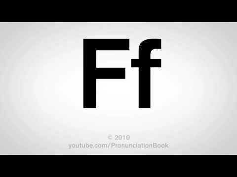 Basic English: How to Pronounce the Letter F