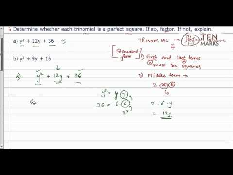Factor Perfect-Square Trinomials