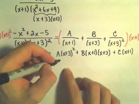 Partial Fraction Decomposition - Example 5