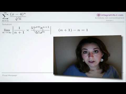 Interval of Convergence Example 2