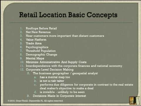 Retail Location Analysis - Beginning 12-steps