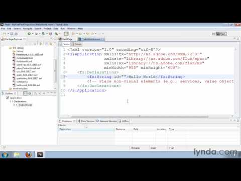 How to use the MXML namespaces in Flex 4 | lynda.com tutorial
