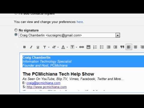 How To Create A Google Gmail E-mail Signature
