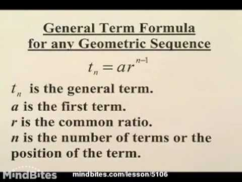 Sequences & Series: Geometric Series