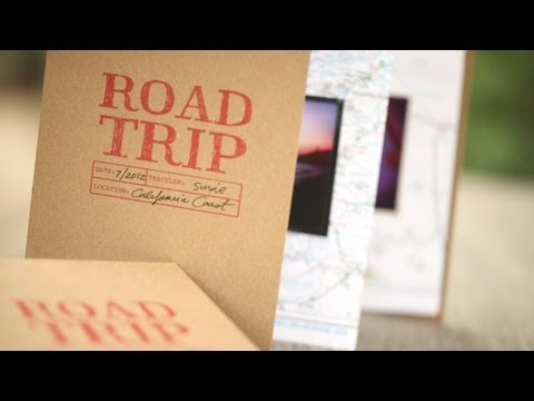 Map Accordion Travel Book: How to Make || KIN DIY