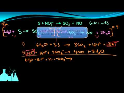 Chemistry 13.6b More Balancing by Half-Reactions (Acidic)