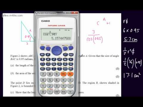 (q7) January 2012 Core 2 Edexcel (C2 AS maths) QUICK ANSWERS ONLY