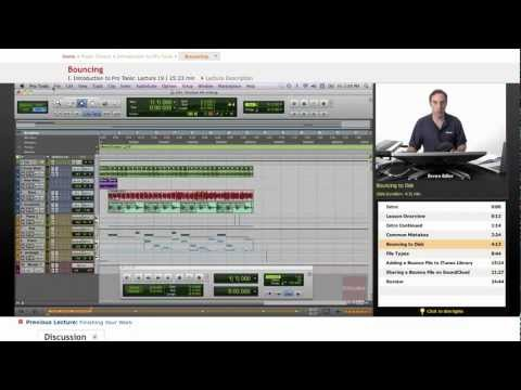 Pro Tools: Bouncing