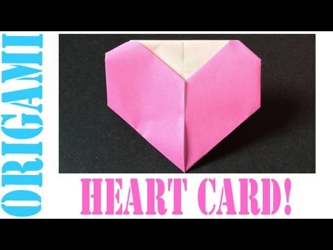 Origami Daily - 170: Heart Card (Valentine's Day) TCGames [HD]