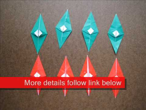 How to Fold Origami Christmas Wreath - OrigamiInstruction.com