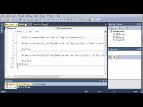 Visual Basic Tutorial - 104 - Nested Namespaces
